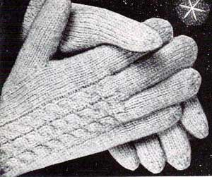Knitting Looking for a pattern for men's fingerless gloves in knitting