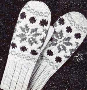 Norwegian Knitting Patterns : Childrens Norwegian Mittens Knitting Patterns