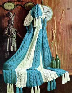 and White Afghan | Number 742-11 | Afghan Pattern | Knitting Patterns
