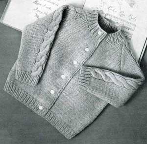 Knitted Raglan Cardigan Sizes 1 2 Amp 3 Knitting Patterns
