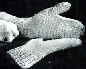 Can you recommend a good knitting pattern for men's mittens that