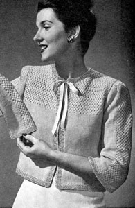 Bed Jacket Knitting Pattern : Bed Jacket Knitting Patterns