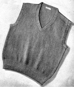 Free Knitting Pattern kwes-vest Uni Vest : Lion Brand