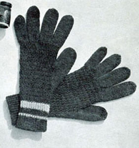 Men's Afghan Stitch Gloves | AllFreeCrochet.com