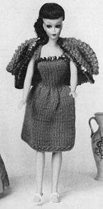 Evening Jacket No. 773 Doll Clothes Pattern Knitting Patterns