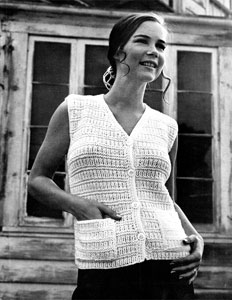 Sleeveless Cardigan Knitting Pattern : Sleeveless Cardigan Style No. 7509 Knitting Patterns