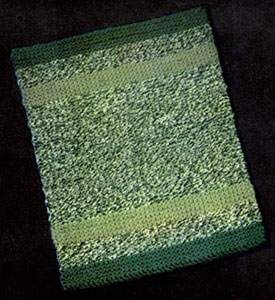 Variegated Knitted Rug
