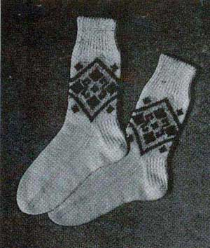 Mens and Boys Fair Isle Sport Socks Knitting Patterns