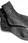Twisted-Rib Socks Pattern
