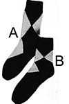 Argyle-Type Anklets Pattern