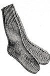 Men's Cable-Stitch Socks Pattern