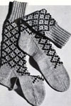 diamond argyle socks