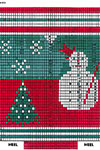 Snowman and Snowflakes Stocking 3