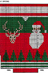 Santa and Reindeerhead Stocking 4