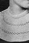 Double Crochet and Knot Stitch Collar pattern