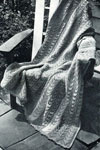 knitted patio stripe afghan